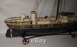 1880's France Maltepe Et Tarent Gun Ship Wind-up 22.5 Long Extremely Rare