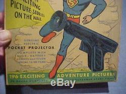 1930s 40s Daisy Superman Krypto Ray Gun in original BOX with film & boxes TOY