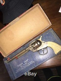 1938-45 Rare Roy Rogers Long Tom Style Kilgore Cast Iron Toy Cap Gun Pistol