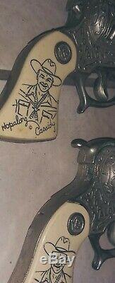 1940's Hopalong Cassidy Cap Gun Pair & Holster Set