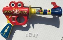 1940's Original Daisy Rocket Dart Pistol Target Set Space Gun Toy & Target