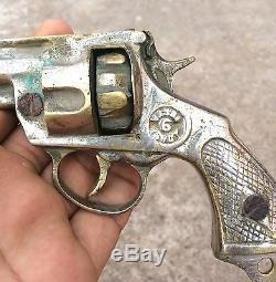 1940's VINTAGE VASU MARKED BRASS HEAVY TOY GUN