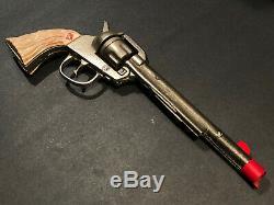 1945 Long Tom Kenton Cap Gun Nickel Cast Iron Antique Mint Unfired h15
