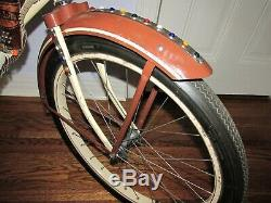 1950 Gene Autry Monark 24 Girls Cap Gun Bicycle Full Dress Complete