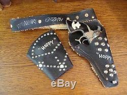 1950 Hopalong Cassidy Gun Belt Holster, Cap Gun/Pistol, Wrist Cuff by Schmidt