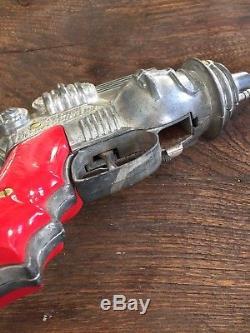 1950's Vintage Diecast Hubley Atomic Disintegrator Ray Gun, Space Toy Cap Pistol