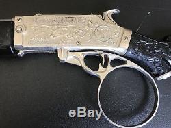 1950s HUBLEY THE RIFLEMAN TV SHOW CAP GUN RIFLE RARE BLACK w GREY BARREL