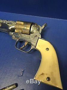 1950s Hubley Cap Gun Colt. 45 With Holster And Sears Roebuck and Co Box