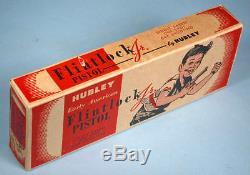 1950s Hubley Flintlock Jr. Toy Cap Gun with Box Die Cast Metal Pirate Style