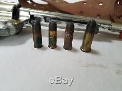 1950s MATTEL 45 SHOOTIN' SHELL FANNER TOY CAP GUN HOLSTER BELT SHELLS