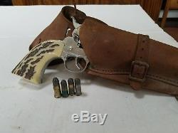 1950s MATTEL FANNER 50 SHOOTIN' SHELL TOY CAP GUN HOLSTER BELT SHELLS