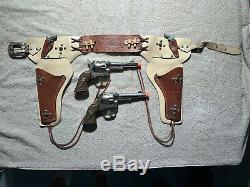 1950s Roy Rogers Classy Four Gun Copper Grip Holster Set