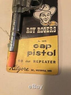 1950s Vintage Roy Rogers Kilgore Cap Gun 8 New Old Stock Rare Moc #2055