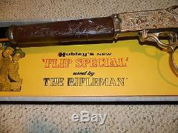 1958 HUBLEY THE RIFLEMAN VINTAGE TOY CAP GUN REPEATING RIFLE No. 203 with BOX