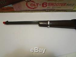 1959 MATTEL SHOOTIN' SHELL COLT 6-SHOOTER RIFLE CAP GUN EXCELLENT & WithBOX