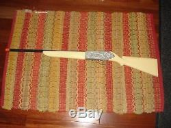 1960 Hubley Frontier Cap Gun Rifle White Stock & Grips, Made For Female Market