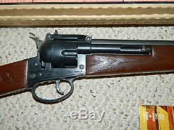 1960's Colt 6 Shooter Rifle Mattel withOriginal Box Toy Cap Gun Shootin Shell EUC