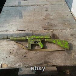 1960's MATTEL TOMMY-BURST Cap Machine Gun Camouflage Guerilla Rifle Toy