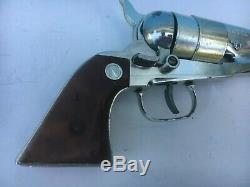 1960's Nichols RARE Nickel Finished MODEL 61 Cap Gun Beautiful