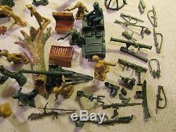1960's marx playset boxed 54mm ww2 battleground army german tank guns