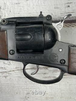 1960s MATTEL COLT Shootin Shells SIX SHOOTER RIFLE PLASTIC TOY GUN VINTAGE