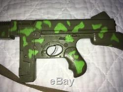 1960s MATTEL TOMMY BURST Bolt Action Machine Cap Gun TOY Guerrilla Camo WWII WW2