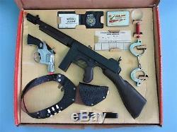 1961 Halco Special Agent Cap Gun Detective Set In Original Box