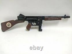 1961 Mattel Dick Tracy Tommy Burst Toy Machine Cap Gun WORKS Rare Bolt Action