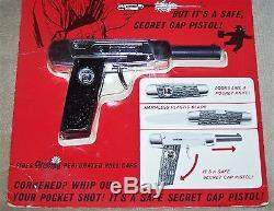 1965 MATTEL AGENT ZERO M Pocket Shot CAP GUN MINT ON CARD