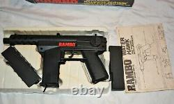 1980s Rambo First Blood part II Water Hawk toy gun vintage LJN unused Stallone