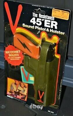 1984 V invasion alien visitor Arco toys vintage toy blaster gun 45er pistol moc