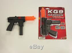 1 New Kg9 Handgun Toy Cap Gun 9 Police Pistol Detective Fires 8 Ring Caps