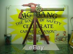 1a Smith's Model 32 Rapid Fire Machine Gun Big Bang Cannon Carbide Cast Iron Toy