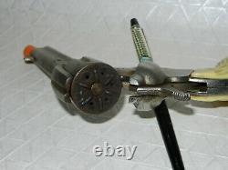 1st Model KILGORE Big Horn Cap Gun, Cast Iron cylinder. HARD TO FIND WHITE GRIPS