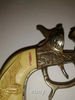 2 American Cast Iron Kilgore Vintage Cap Gun can use parts to make one perfect