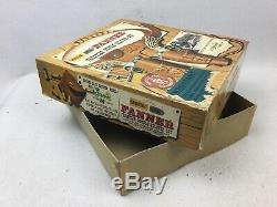 2 Mattel Fanner Shootin Shell Toy Cap Gun Pistols In Original Box Holster Belt