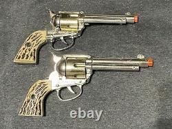 2 Rare 1950s Mattel Fanner Shootin Shell Cap Guns