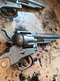2x Vintage Nichols Toys Stallion 41-40 Cap Gun PAIR
