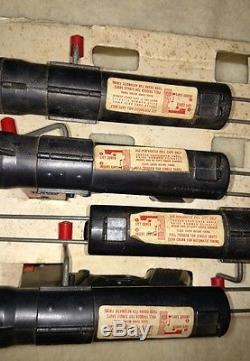 4 Vintage 1950s Mattel Toy Little Burp Machine Guns on Store Display Box NOS