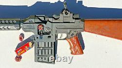 60's Mattel Firebolt Army M16 Tommy Burst Machine Submachine Combo Sonic/Cap Gun