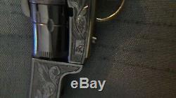 AMAZING COLT CIVIL WAR 1851 GUN 2mm. MINIATURE. WATCH PINFIRE FOB. ENGRAVED. #14