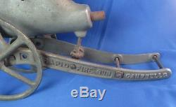 Antique Campbell's Rapid Fire Gun 1907 Pat. Cast Iron Toy Cannon Young American