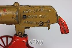 Antique GREY IRON CASTING CO. 1920's Rapid Fire Toy Machine Gun for Restoration
