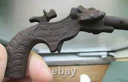 Antique LION Cast Iron Cap Gun 1909 Works