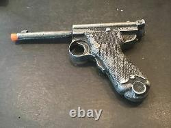 Antique Rare Cast Aluminum Toy Gun Japanese Nambu Pistol Replica Free Shipping