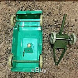 Antique very rare tin toy BTR military with a gun Armored personnel carrier USSR