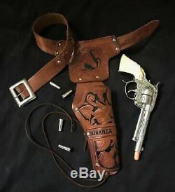 BONANZA Cap Gun, Single Holster, & Bullets