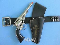 Bat Masterson Holster Set With Hubley Remington 36 Cap Gun