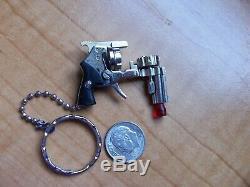 Berloque Miniature 2mm Gun Pistol Fob Key Chain Xythos Style Revolver