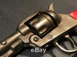 Big Horn Kilgore Cap Gun Cast Iron Red Grips Toy Cowboy Western Antique h15